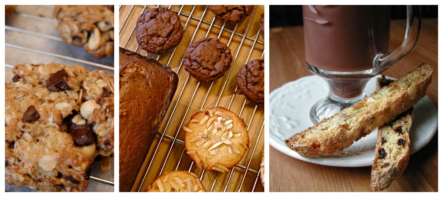 breakfast baking, room treats, biscotti
